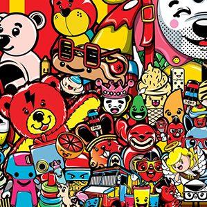 作者:ChocoToy cute collection of illustrations /4 人物设计 图形设计 插图