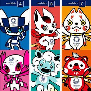 据东京奥组委介绍,这三组候选吉祥物将从12月11日至2月22日接受评选