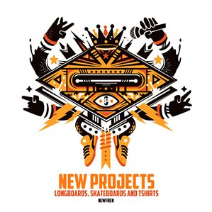 Newfren Projects, longboards, skateboards and tshirts. New projects