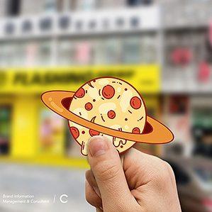 唐山的一个披萨项目,客户很喜欢我们对于IP的想象、设定和把控力,也认可IP的建立对品牌